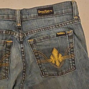 David Kahn Jeanswear Gold Embroidered Bootcut